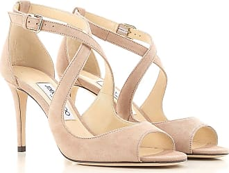 Sandale Femme Pas cher en Soldes Outlet, Bronze Antique, Cuir Mirroir, 2017, 40Jimmy Choo London
