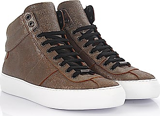 Sneaker high Belgravi leather bronze metallic finished Jimmy Choo London