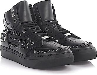 Sneaker high Ruben leather black studs anthracite Jimmy Choo London