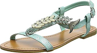 Joe Browns Damen Ocean Breeze Sandals T-Spangen, Grün (Aqua A), 37 EU