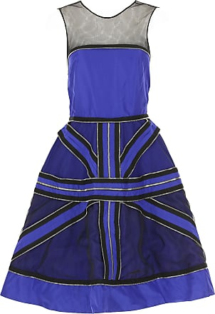 Dress for Women, Evening Cocktail Party On Sale, Blue, Cotton, 2017, 10 12 8 John Galliano