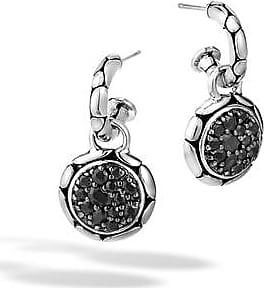 John Hardy Extra Small Drop Earring With Black Sapphire Black sapphire