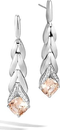 John Hardy Magic Cut Earring With Champagne Topaz And Diamonds Champagne topaz