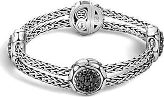 John Hardy Station Bracelet With Black Sapphire Xl Black sapphire