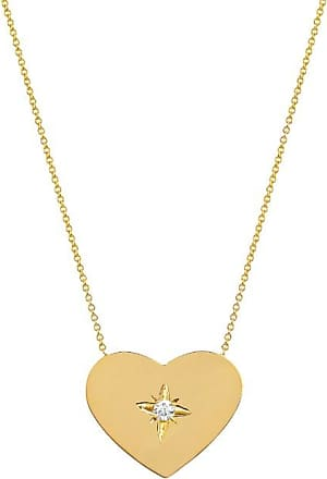 Johnny Was 14K Gold Large Heart Of Gold With Star Set Diamond Gold