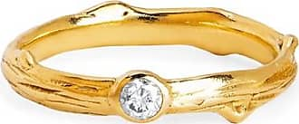 Johnny Was 14K Gold Rose Thorn Band Ring Gold