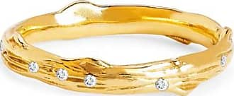 Johnny Was 14K Gold Rose Thorn Band With Sprinkled Diamonds Gold