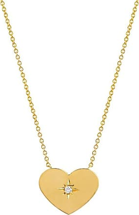 Johnny Was 14K Gold Custom Large Golden Heart With Star Set Diamond Gold