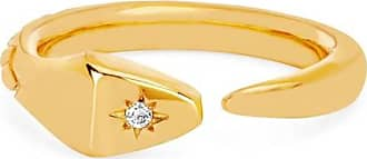 Johnny Was Snake Ring With Star Set Diamond Gold