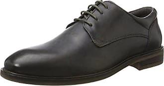 811229141111, Derbys Homme, Noir (Black/Grey 1015), 44 EUDaniel Hechter