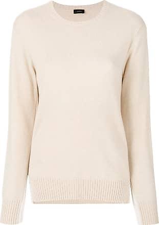 Joseph Woman Striped Marled Ribbed-knit Cotton-blend Sweater Ecru Size L Joseph