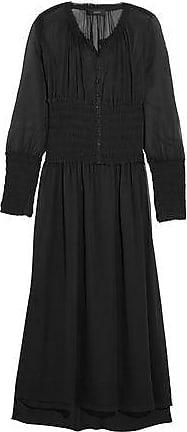 Joseph Woman Washed-silk Dress Sage Green Size 38 Joseph