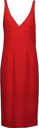 Joseph Woman Gloria Crepe Dress Tomato Red Size 38 Joseph