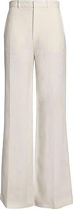 Joseph Woman Ferguson Linen-twill Wide-leg Pants Beige Size 36 Joseph