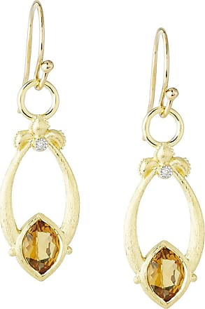 Jude Frances Open Marquise Fleur Citrine Earrings w/ Diamonds