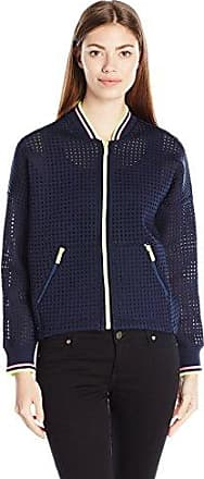 Juicy Couture SPT Square Bonded Mesh Bomber Jacket, Chaqueta para Mujer, Azul, S