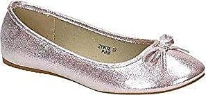 Jumex Damen Ballerinas Halbschuhe Slipper Flats Schleife Sommer Freizeit BAZY9178 (39, Pink)