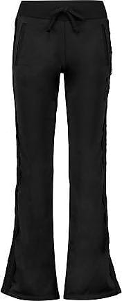 Just Cavalli Woman Lace-trimmed Jersey Track Pants Black Size XL Just Cavalli