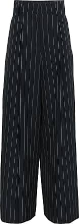 High Waisted Pinstripe Trousers - Blue Juun.J