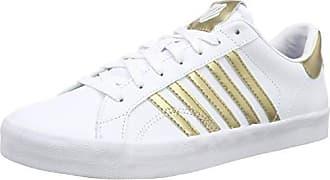 K-Swiss Belmont So, Zapatillas Para Mujer, Blanco (White/Gray Lilac Stripes), 41 EU