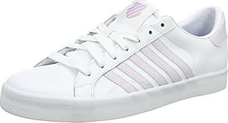 K-Swiss Belmont So, Zapatillas Para Mujer, Blanco (White/Gold), 42 EU