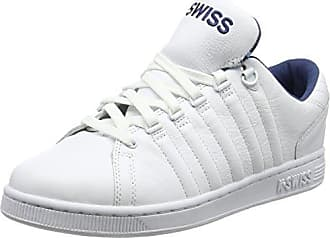 K-Swiss Rinzler SP, Sneakers Basses Homme, Blanc (White/Black), 44.5 EU