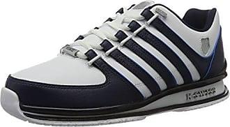 K-Swiss Baxter, Baskets Basses Homme, Bleu (Navy/White/Dawn Blue 474), 42 EU
