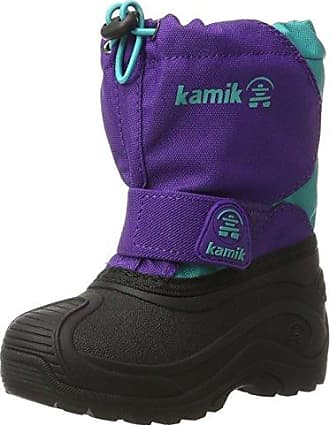 Kamik NATIONJR - botas de nieve de cuero infantil, DBR, 35