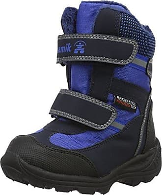 Kamik NATIONJR - botas de nieve de cuero infantil, DBR, 36