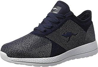 KangaROOS »Leder/Mesh« Sneaker, blau, navy