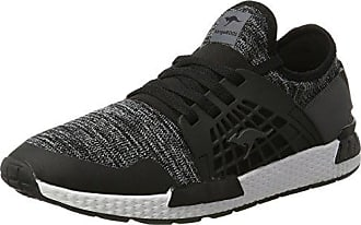 KangaROOS Uomo K di Yard 3021 B Low Top, Nero (Schwarz (Black/White 500)), 47 EU