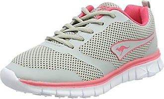 Kangaroos K-March, Zapatillas para Mujer, Gris (Vapor Grey/Mauve Glow 2045), 42 EU