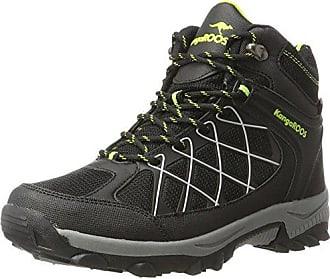 KangaROOS Unisex-Kinder Base Hi Hohe Sneaker, Grau (Steel Grey/Jet Black), 32 EU