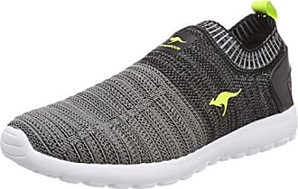 Kangaroos Loop, Zapatillas Unisex Adulto, Negro (Jet Black/Lime 5008), 42 EU