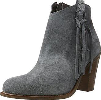 Boot w. Zip Suede - Botas de Caño bajo de Cuero Mujer, Color Gris, Talla 39 Sofie Schnoor