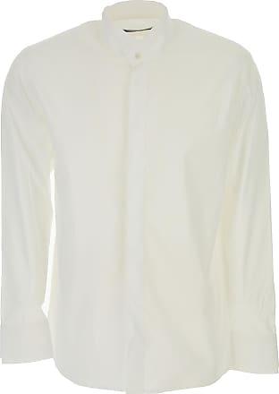 Camiseta de Hombre Baratos en Rebajas, Blanco, Algodon, 2017, L M S XL Karl Lagerfeld