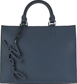 K/Signature Shopper Tasche aus hellrosanem glattem Kalbsleder Karl Lagerfeld
