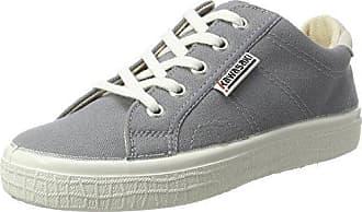 Unisex Adults Badmin Leather Trainers, White Kawasaki