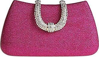 Elegante Diamant Abendtaschen Rose-Rot Unterarmtasche Handtaschen Kaxidy