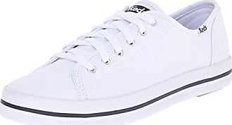 Damen Kickstart Season. Damen Saison Kickstart. Canvas White Sneaker Keds Chaussures De Sport Blanches En Toile Keds