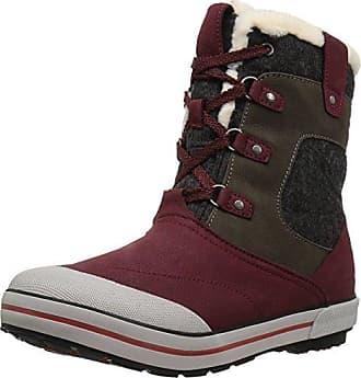 Keen Damenschuhe Elsa Boot WP W 1015457 Damen Trekkingschuhe, Wanderstiefel, Stiefel, Boots Schwarz/Grau (Houndstooth), EU 37