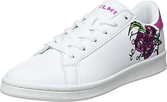 Kelme Omaha Flowers, Zapatillas para Mujer, Blanco (Blanco y Morado 198), 39 EU