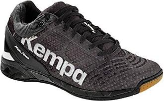 Wing lite Women Caution, Zapatillas de Balonmano para Niñas, Gris (Gris Claro/Blanco/Amarillo 000), 35.5 EU Kempa