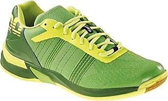 Tornado Xl, Chaussures de sports en salle homme - Blanc (02 Blanc Marine Vert Fluo), 36 EU (3.5 UK)Kempa