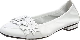 Malu, Ballerines Bout Fermé Femme, Blanc (Bianco 427), 40.5 EUKennel & Schmenger