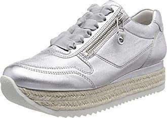 Schuhmanufaktur Big Zapatillas Mujer, Plateado (Silver/Silver Sohle Weiss), 40.5 EU (7.5 UK) Kennel & Schmenger