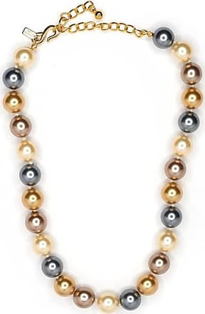 Kenneth Jay Lane 16 Multi Color Pearl Necklace Multi-color