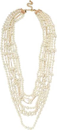Kenneth Jay Lane White Pearl Necklace White
