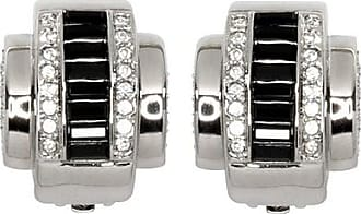Kenneth Jay Lane Jet Baguette Earrings Jet
