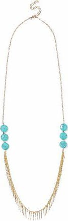 Kenneth Jay Lane Kenneth Jay Lane Woman Stone Silver-tone Necklace Turquoise Size